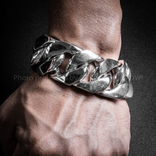 30mm Very Heavy Curb Silver Bracelet