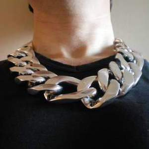Mens Chunky Figaro Chain Necklace 35mm Wide