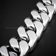 35mm Very Heavy Silver Curb Bracelet