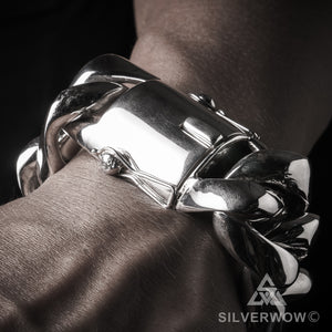 692f059bddb Cuban Bracelet - 35mm Thick & Heavy – SilverWow