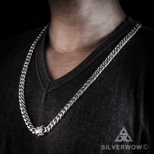 12mm Miami Cuban Link Chain Necklace