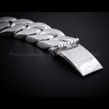 25mm Mens Silver ID Bracelet