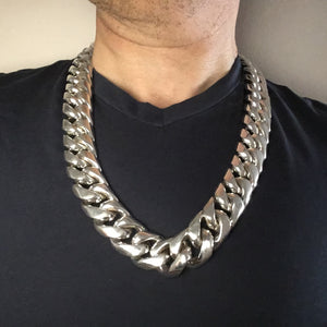 silver Miami cuban link chain x 25mm