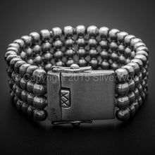 Mens Ball Curb Bracelet x 23mm wide, box lock