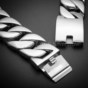 30mm Heavy Stainless Steel Curb Necklace