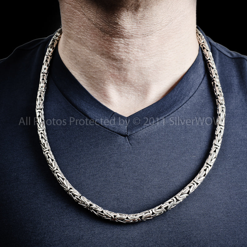 Byzantine Bali Necklace - 6mm Wide