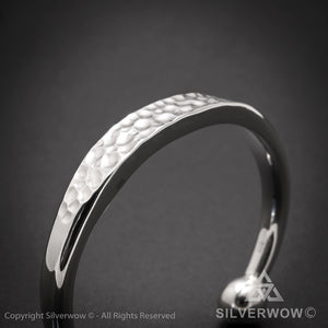Hammered ID Torc Bangle 10 mm