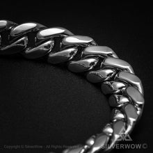 Mens Hammered ID Bracelet