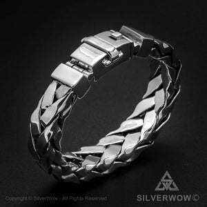 Square Braided Bracelet - Big 16mm wide version for Men