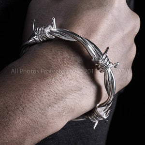 Barb Wire Bangle Silver Jewelry