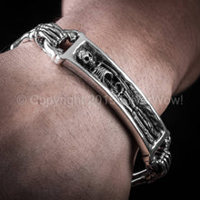 Skeleton Skull Bracelet with Toggle Clasp