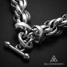 Very Big & Heavy Silver Mens Rope Chain Necklace