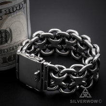 Unique, Heavy, Silver KBB1 Bracelet 25mm