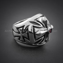 Big Maltese Cross Biker Ring