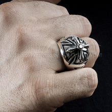 Mens Iron Cross Ring