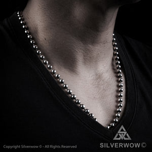 Oxidised Mens Ball Chain Necklace - 2019