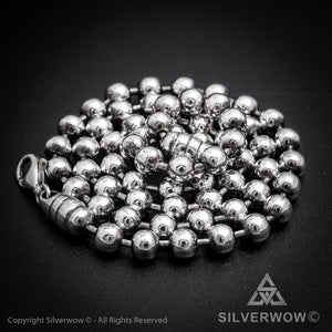 Oxidised Mens Ball Chain Necklace