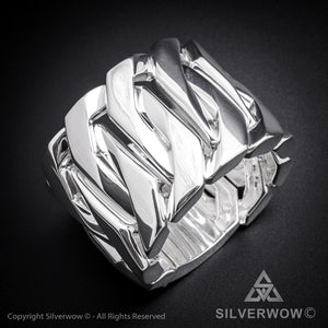 Monster, Huge, Mens Silver Bracelet x 60mm Wide !