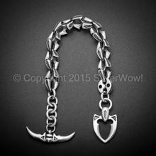 Shark Link Bracelet with Toggle Clasp