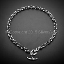 Shark Mens T-Bar Toggle Necklace Chain