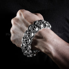 Heavy Chunky Skulls Bracelet x 23mm Wide