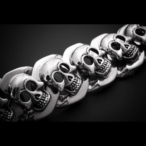 Big Chunky Skulls Bracelet x 23mm Wide