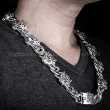 Leopard Head Silver Necklace Chain