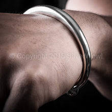 Chunky 8mm Tapered Torc, Silver Bangle