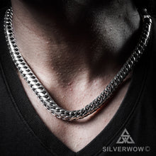 10mm Mens Woven Snake Necklace