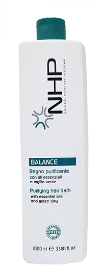 NHP Purifying Hair Bath Shampoo With Essential Oils And Green Clay Anti Dandruff