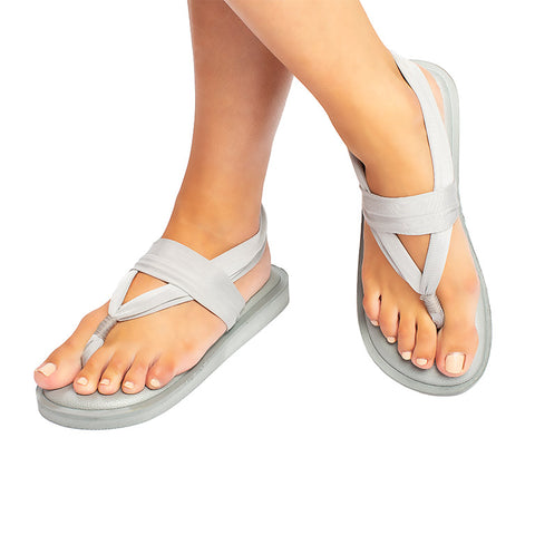 Sandals Classic Metallic Grey