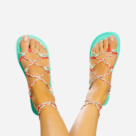 Sandals Braided Tropical