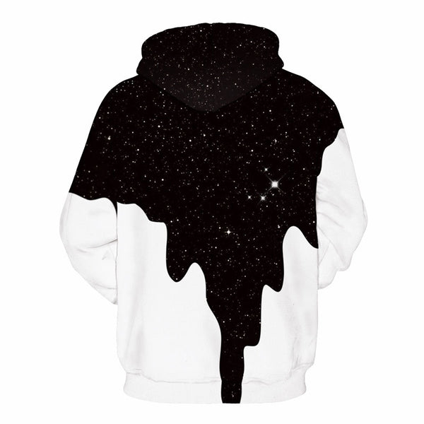 Men's Spilled Paint Galaxy Hoodie