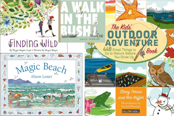 booktopia Australian outdoor adventure books magic beach finding wild a walk in the bush