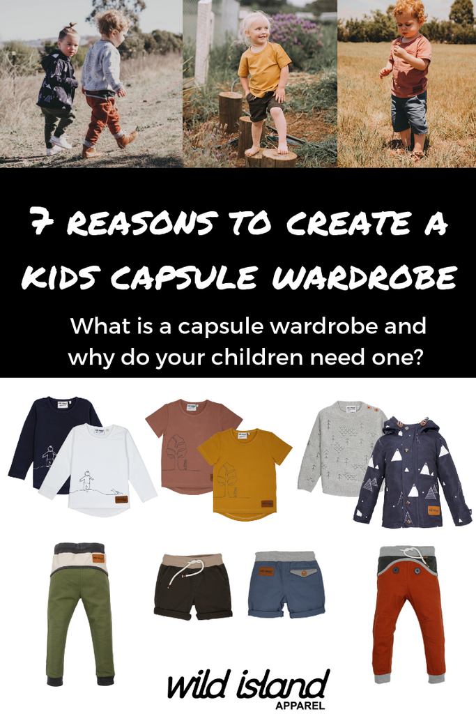 Why should you create a kids capsule wardrobe? #capsulewardrobe #mixandmatch