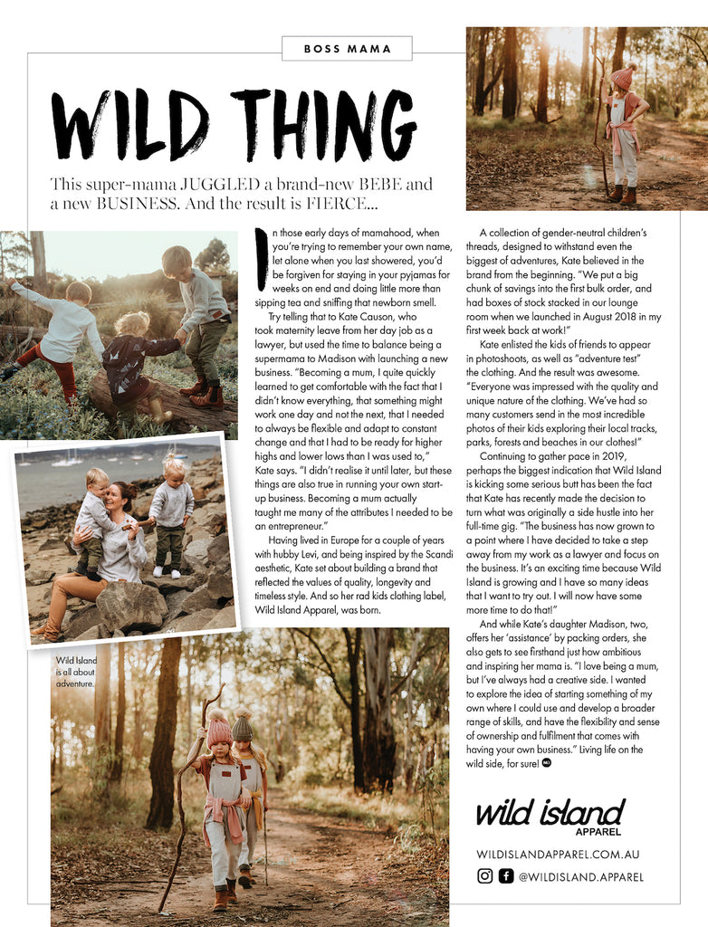 Wild Island Apparel Mama Disrupt Article July 2019