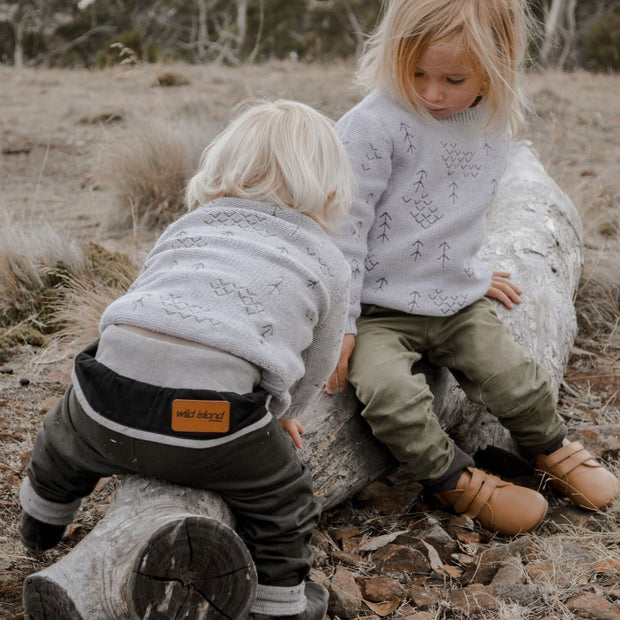 Wild Island Co Kids Discoverer Pants for girls + boys, Wild Island, dark grey (1-8Y) Kids and Adults Quality Clothing Designed in Tasmania Australia 14