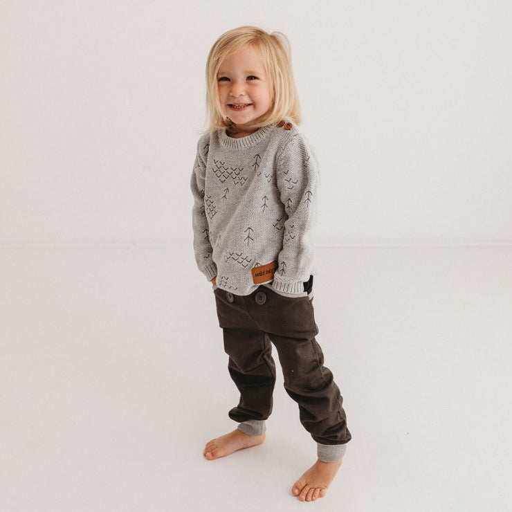 Wild Island Co Kids Discoverer Pants for girls + boys, Wild Island, dark grey (1-8Y) Kids and Adults Quality Clothing Designed in Tasmania Australia 8