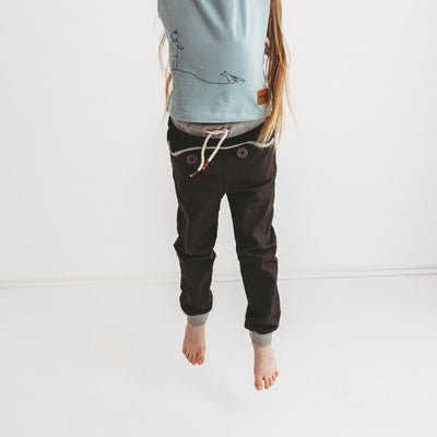 Wild Island Co Kids Discoverer Pants for girls + boys, Wild Island, dark grey (1-8Y) Kids and Adults Quality Clothing Designed in Tasmania Australia 1