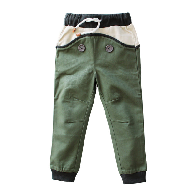 Wild Island Co Discoverer Kids Pants for girls + boys, Wild Island, sage green (1-8Y) Kids and Adults Quality Clothing Designed in Tasmania Australia 2