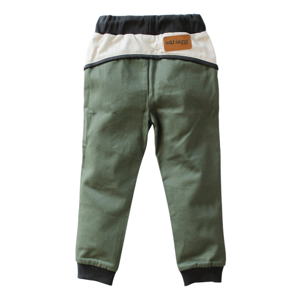 Wild Island Co Discoverer Kids Pants for girls + boys, Wild Island, sage green (1-8Y) Kids and Adults Quality Clothing Designed in Tasmania Australia 3