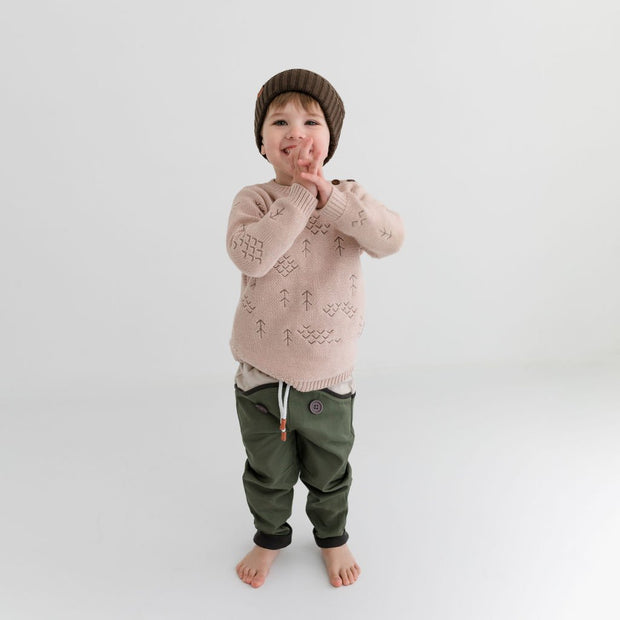 Wild Island Co Discoverer Kids Pants for girls + boys, Wild Island, sage green (1-8Y) Kids and Adults Quality Clothing Designed in Tasmania Australia 8