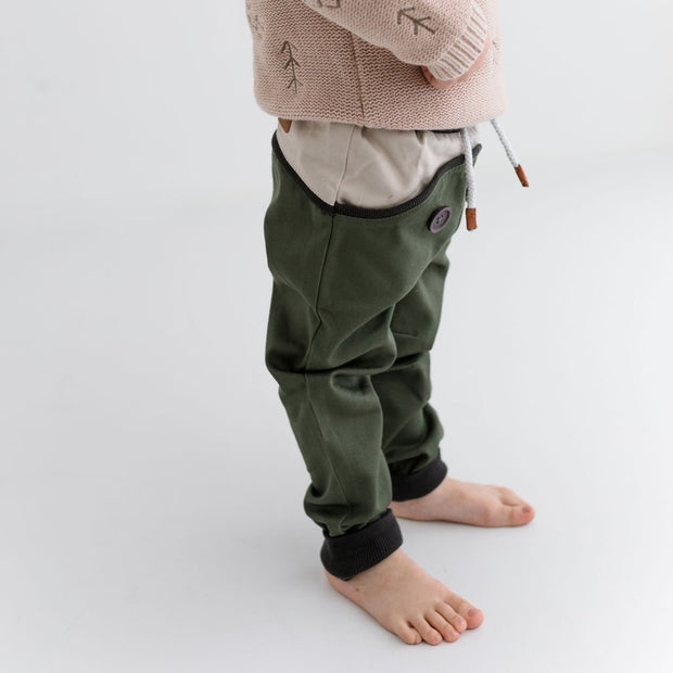 Wild Island Co Discoverer Kids Pants for girls + boys, Wild Island, sage green (1-8Y) Kids and Adults Quality Clothing Designed in Tasmania Australia 9