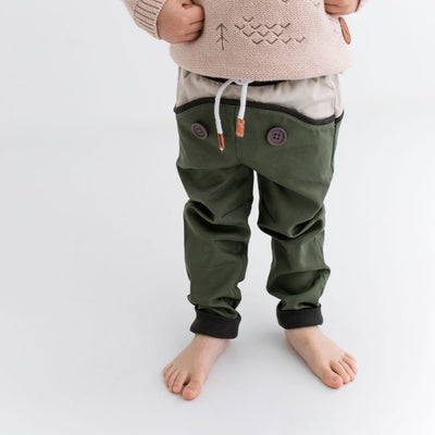 Wild Island Co Discoverer Kids Pants for girls + boys, Wild Island, sage green (1-8Y) Kids and Adults Quality Clothing Designed in Tasmania Australia 1