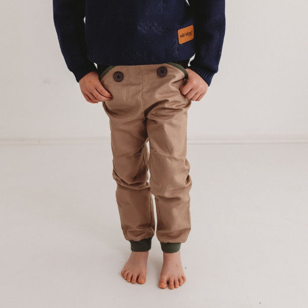 Wild Island Co Discoverer Kids Pants for girls + boys, Wild Island, sand/khaki (1-8Y) Kids and Adults Quality Clothing Designed in Tasmania Australia 11