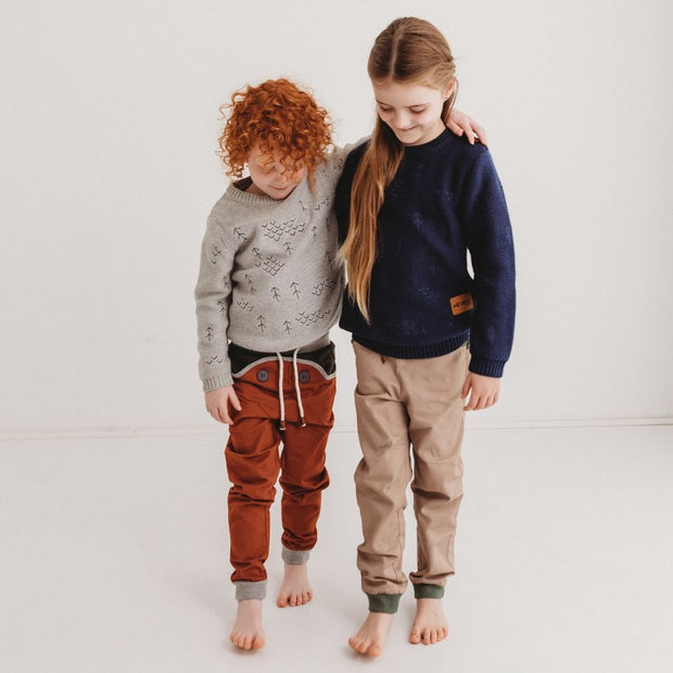 Wild Island Co Discoverer Kids Pants for girls + boys, Wild Island, sand/khaki (1-8Y) Kids and Adults Quality Clothing Designed in Tasmania Australia 8