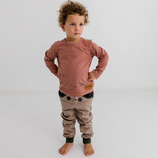 Wild Island Co Discoverer Kids Pants for girls + boys, Wild Island, sand/khaki (1-8Y) Kids and Adults Quality Clothing Designed in Tasmania Australia 9
