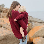 Wild Island Co Knitted Kids jumper for boys + girls, Wild Island, Burgundy Red (1-8Y) Kids and Adults Quality Clothing Designed in Tasmania Australia 11