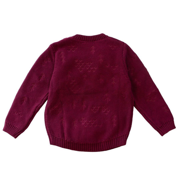 Wild Island Co Knitted Kids jumper for boys + girls, Wild Island, Burgundy Red (1-8Y) Kids and Adults Quality Clothing Designed in Tasmania Australia 3