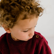 Wild Island Co Knitted Kids jumper for boys + girls, Wild Island, Burgundy Red (1-8Y) Kids and Adults Quality Clothing Designed in Tasmania Australia 7